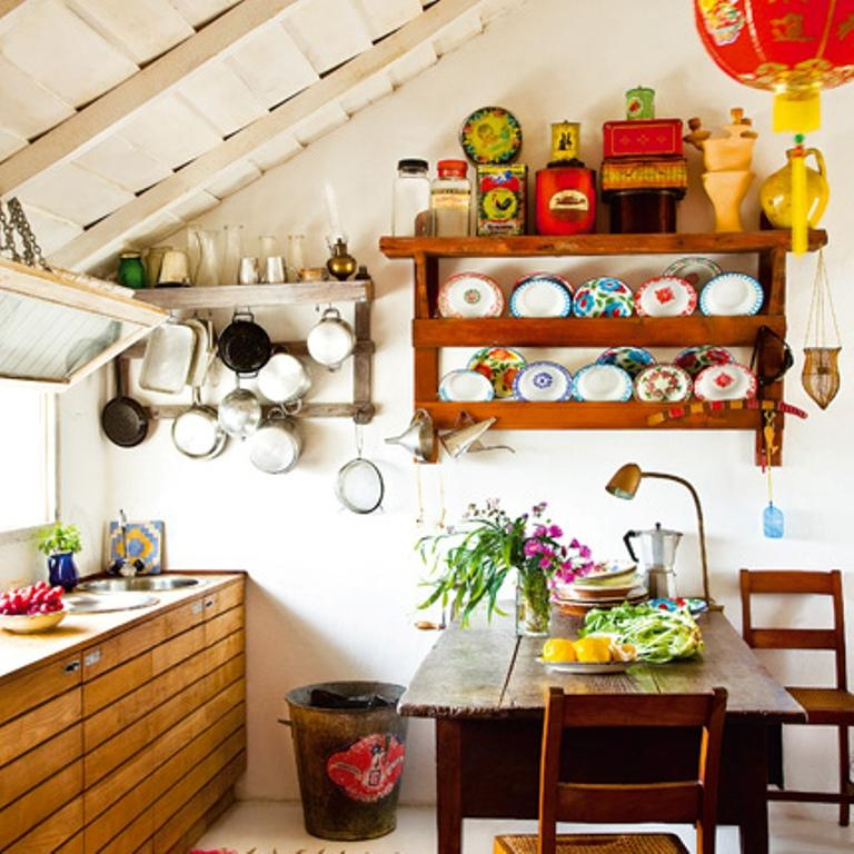 Vintage Bohemian Kitchen