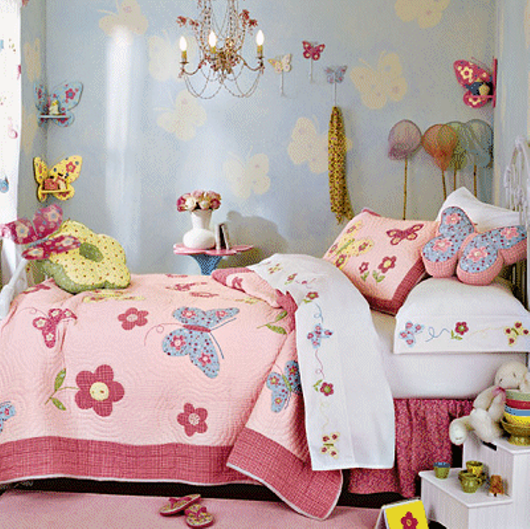 Vintage Butterfly Themed Bedroom