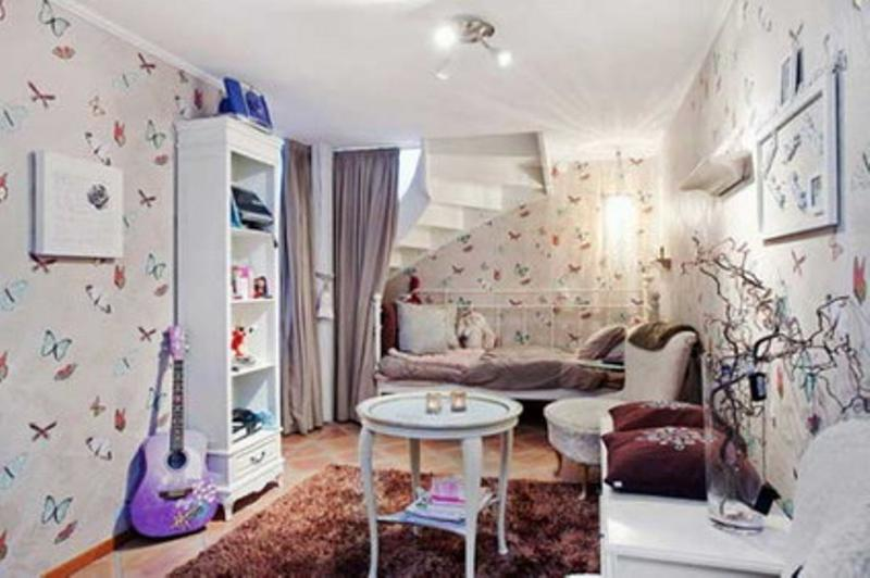 White Butterfly Girl S Bedroom