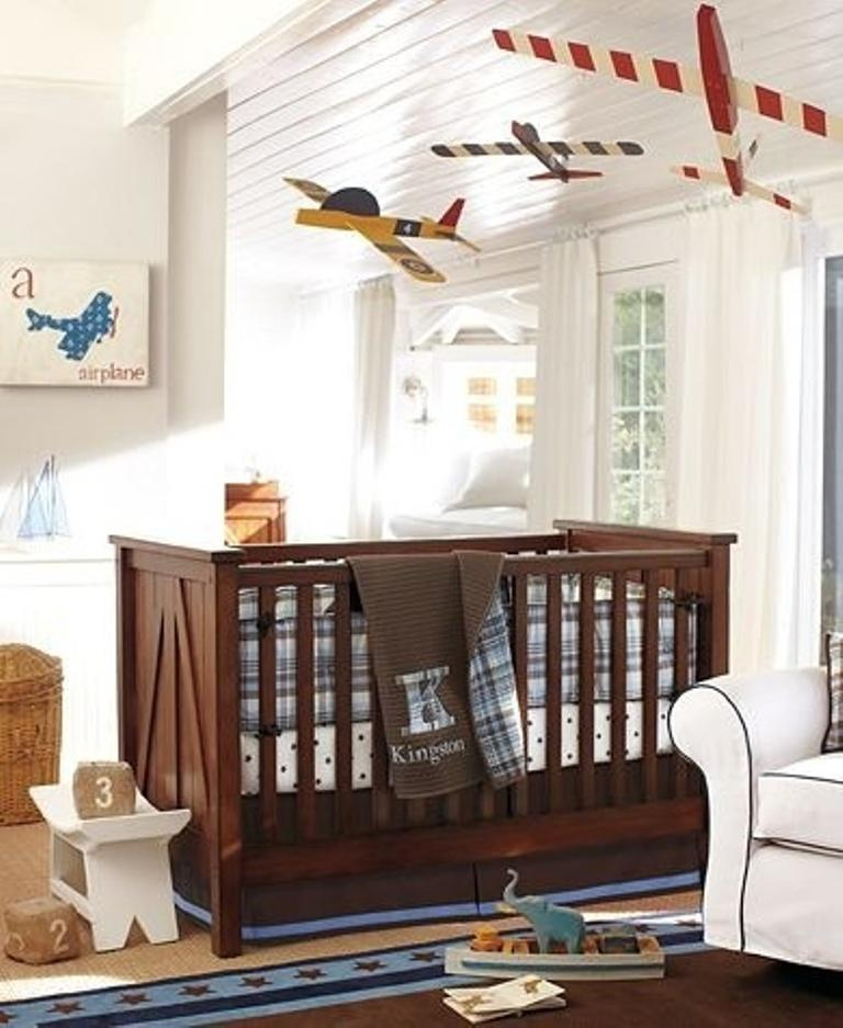 Airplane themed nursery thenurseries for Cool boy nursery ideas