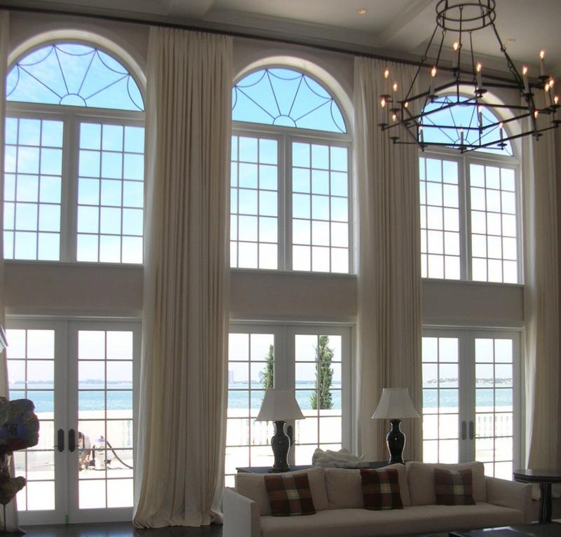Blinds For Large Foyer Window : Sumptuous living room designs with arched windows rilane