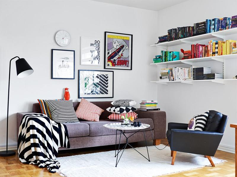 Artistic Scandinavian Living Room