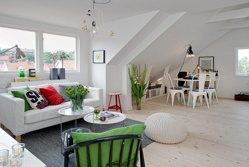 Attic Scandinavian Living Room