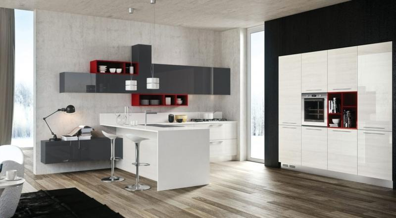 beautiful kitchen with concrete walls - Concrete Walls Design