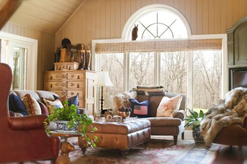 20 sumptuous living room designs with arched windows rilane for Window placement in living room