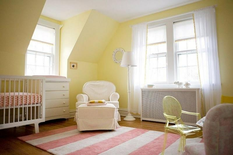 Beautiful Pink And Yellow Nursery