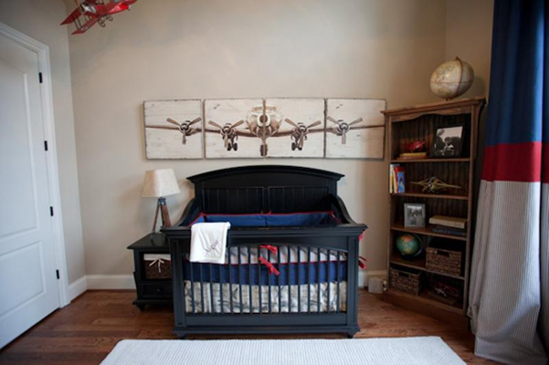 Bold Airplane Themed Nursery
