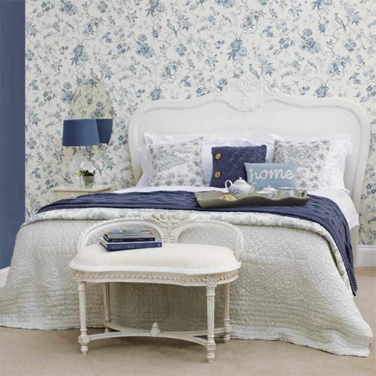 20 charming bedroom designs with floral wallpaper rilane for Bright bedroom wallpaper