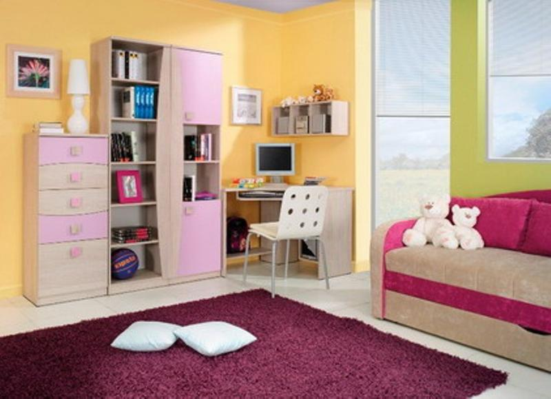 Kids Bedroom Yellow 15 adorable pink and yellow girl's bedroom ideas - rilane