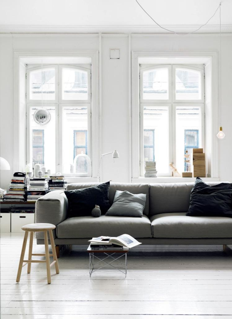 Pretty Scandinavian Living Room