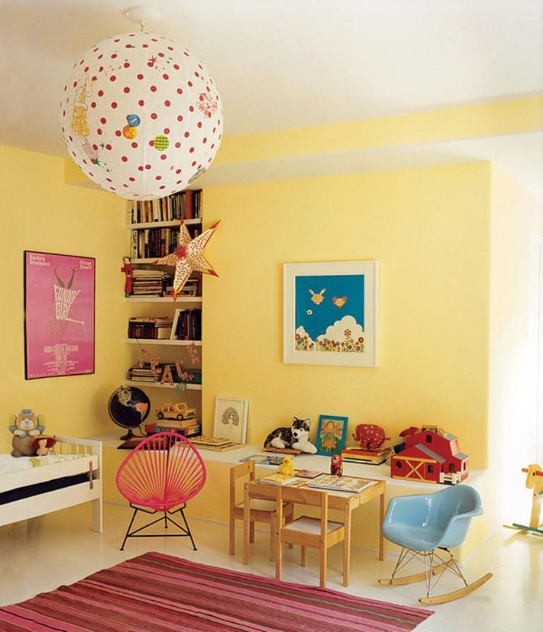 15 adorable pink and yellow girl s bedroom ideas rilane for Bright yellow bedroom ideas