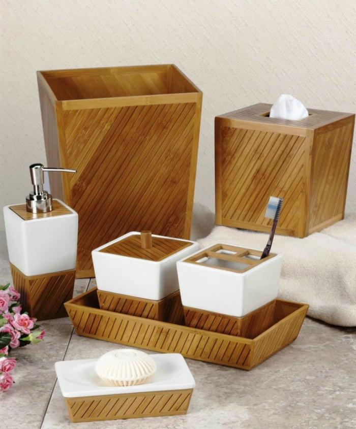 10 creative brown bathroom sets - Wooden Bathroom Accessories Uk