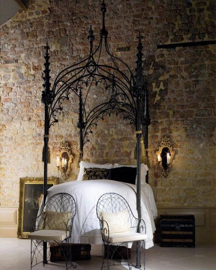 Dramatic Gothic Canopy Bed Design
