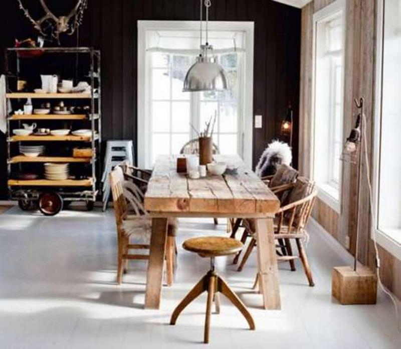Nice Industrial Dining Room Ideas Part - 2: Charming Industrial Dining Room