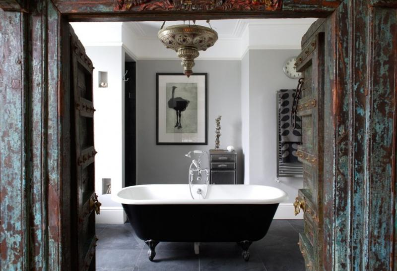 20 Dramatic Bathrooms With Black Bathtub Rilane