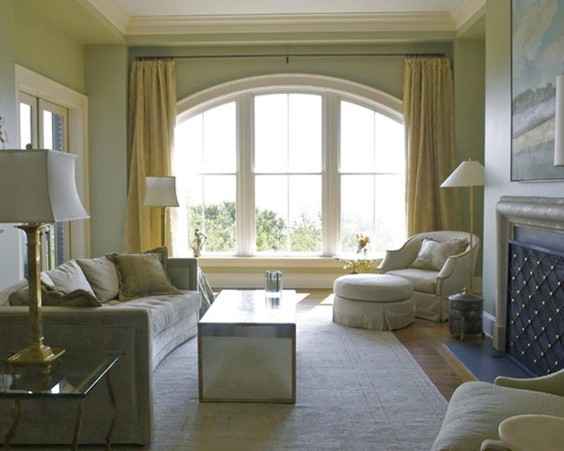 20 sumptuous living room designs with arched windows rilane for Living room picture window ideas