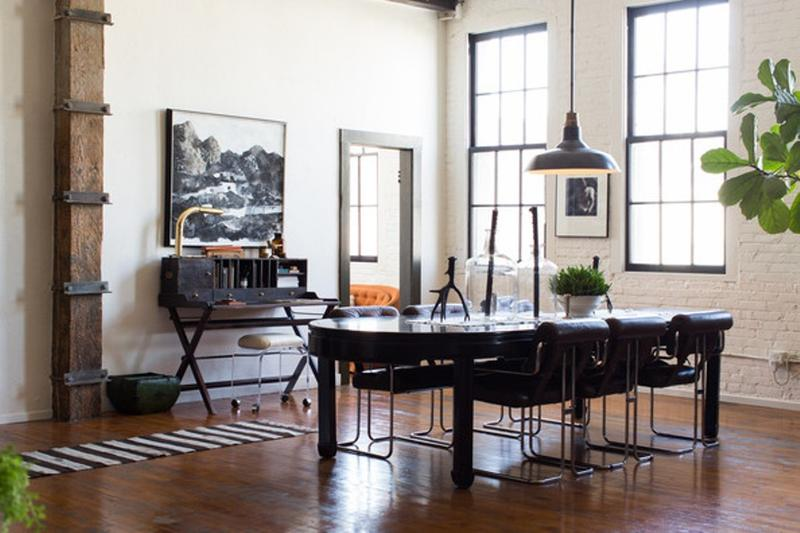 Contemporary Industrial Dining Room