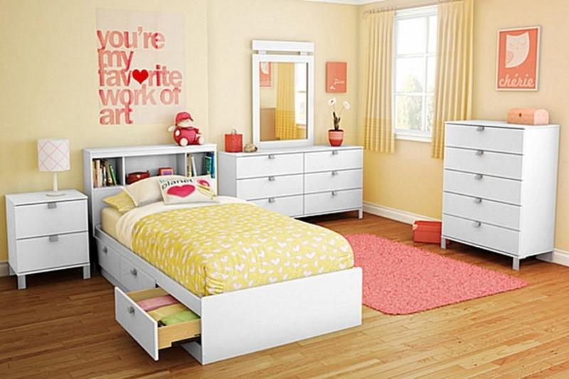 Incroyable Cute Pink And Yellow Girlu0027s Bedroom
