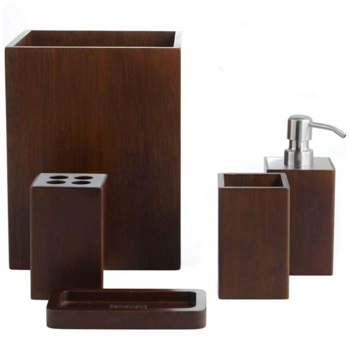 Dark Brown Box Type Bathroom Set 10 Creative Sets  Rilane