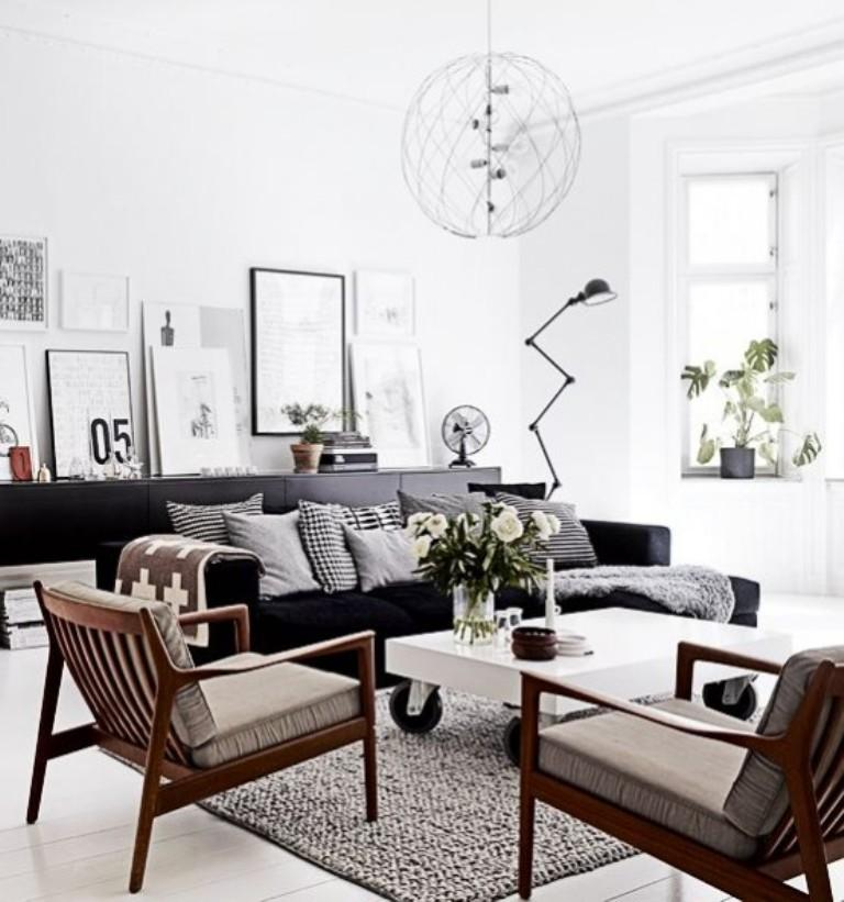 30 perfect scandinavian living room design ideas rilane for Lounge room furniture ideas
