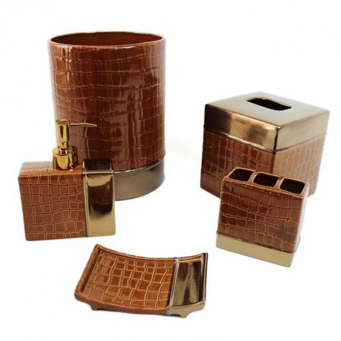 10 Creative Brown Bathroom Sets Rilane