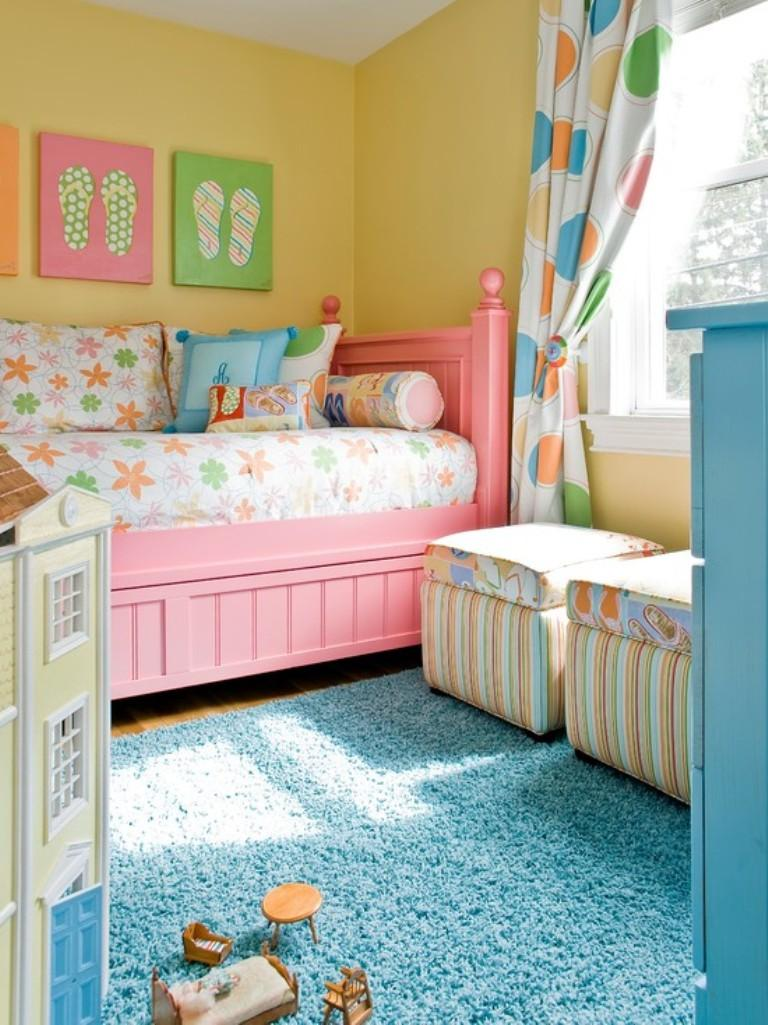 Bedroom for kids girls - 15 Adorable Pink And Yellow Girl S Bedroom Ideas