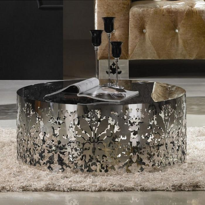 Superb Stainless Steel Coffee Table Designs Rilane - Stainless steel table accessories