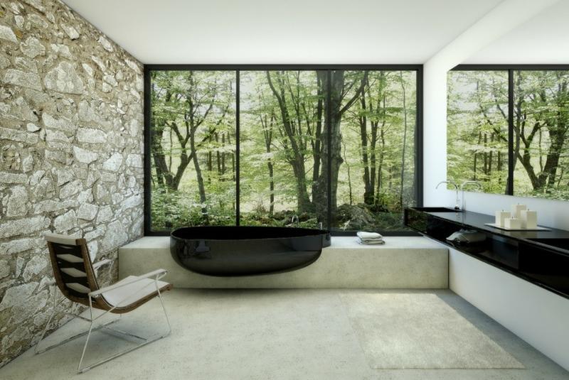 Beautiful Bathroom with Black Bathtub & 20 Dramatic Bathrooms With Black Bathtub - Rilane
