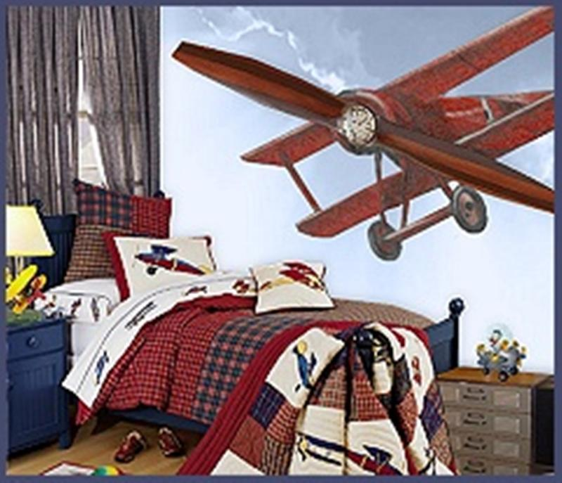 15 cool airplane themed bedroom ideas for boys rilane for Airplane bedroom ideas