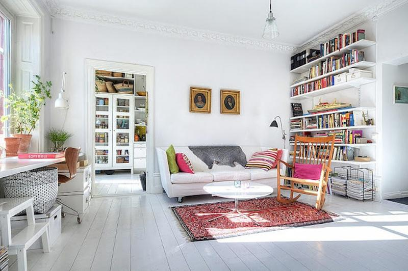 Lively Scandinavian Living Room