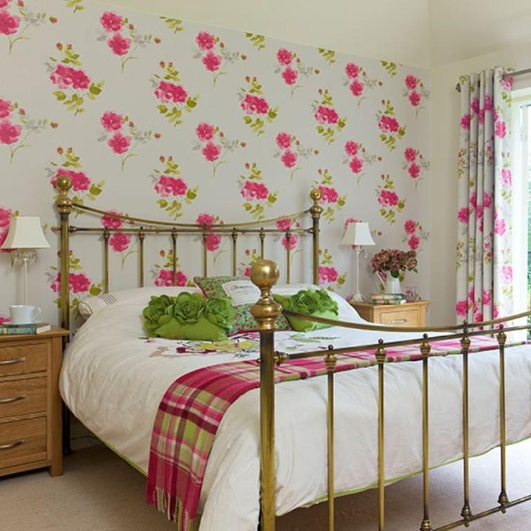 20 charming bedroom designs with floral wallpaper rilane