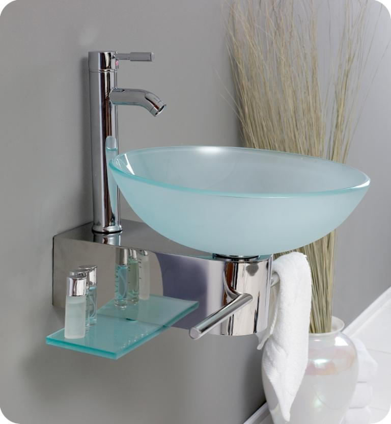 Matted Glass Bathroom Sink