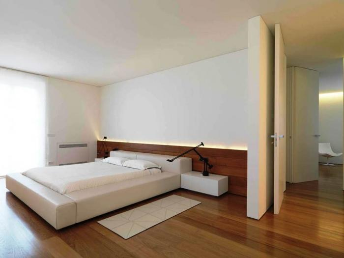 15 amazing bedroom designs with wood flooring rilane for Interior bedroom minimalist