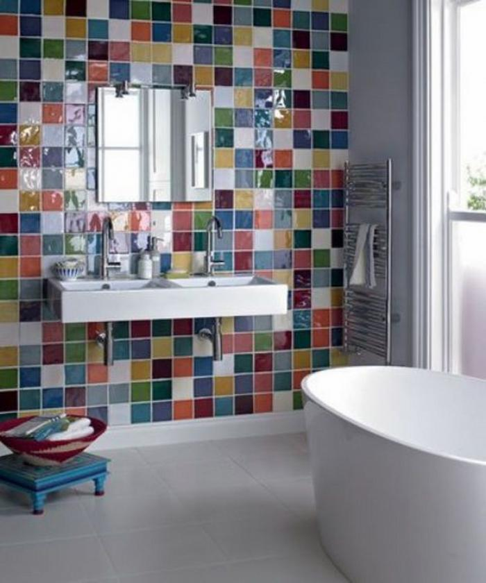 15 Catchy Multicolor Tiled Bathroom Designs Rilane