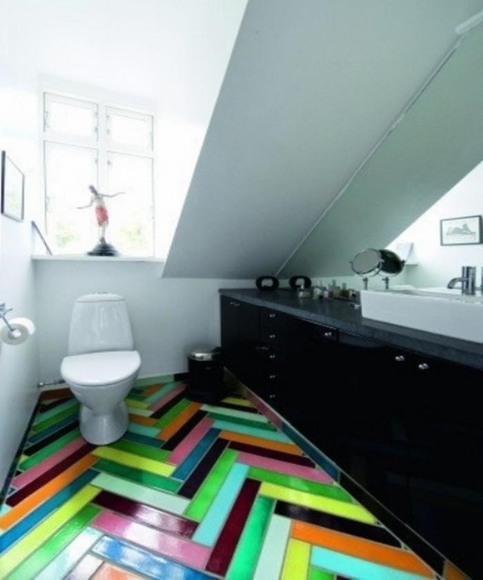 stylish bathroom design with multi color tiles - Multi Bathroom Design