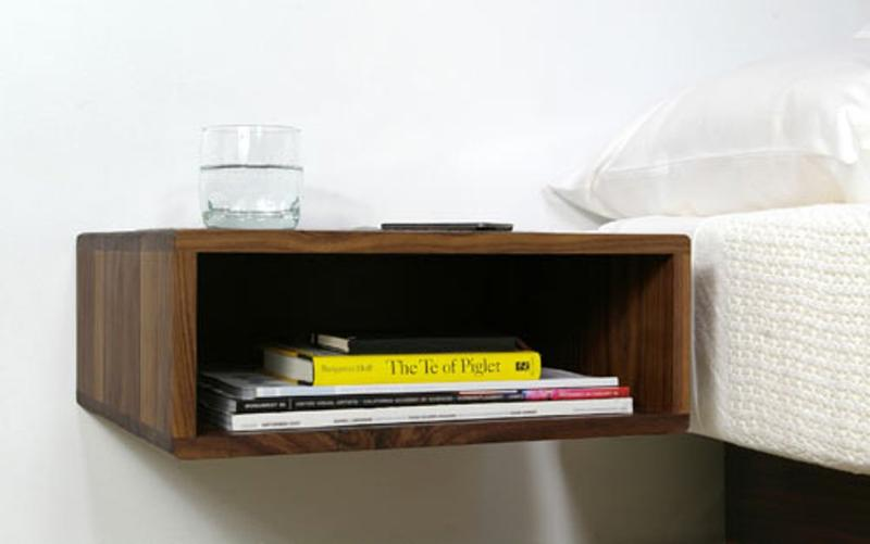 Attirant Neat Floating Bedside Table