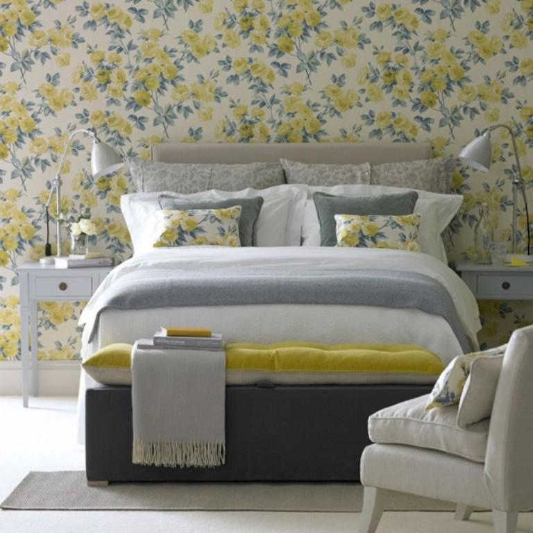 Wallpaper Bedroom Ideas: 20 Charming Bedroom Designs With Floral Wallpaper