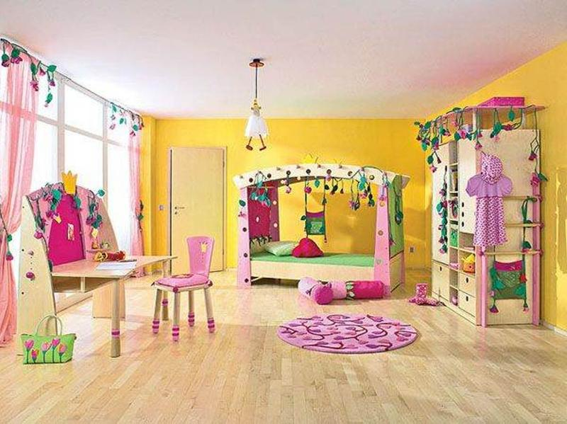 Yellow and pink bedroom ideas