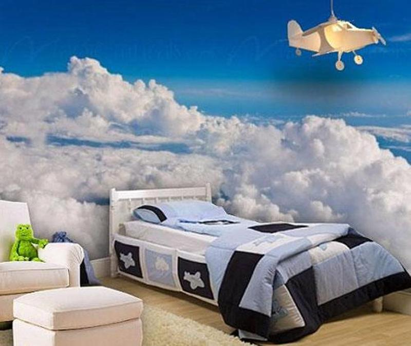 Realistic Airplane Themed Boyu0027s Bedroom