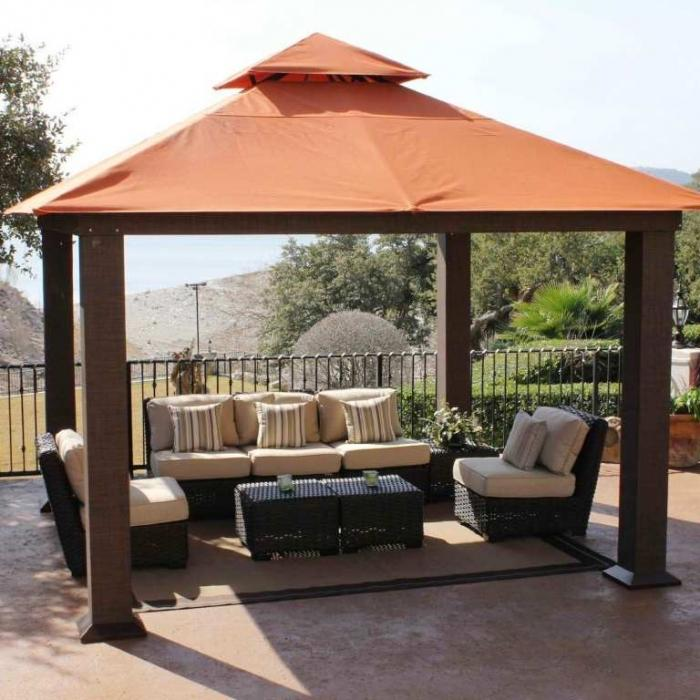 10 relaxing and comfortable outdoor canopy designs rilane rh rilane com outdoor gazebo canopy replacement outdoor gazebo canopy costco