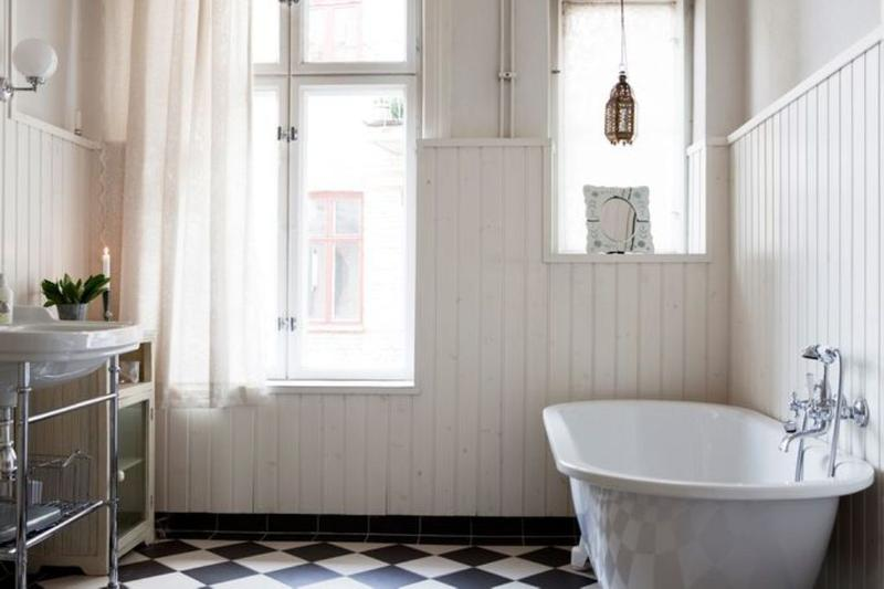 Superior Romantic Scandinavian Bathroom