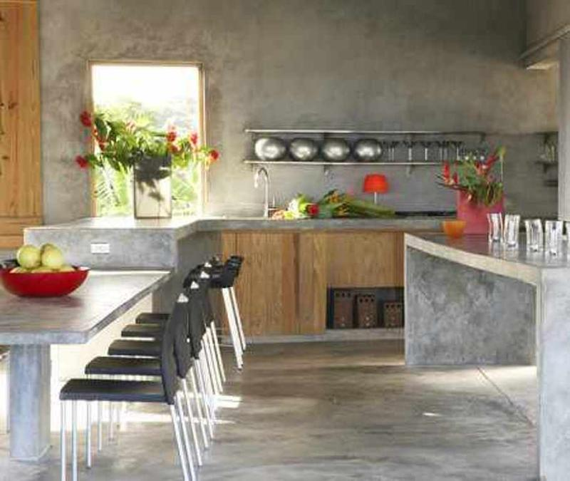 Ilot En Bois: 20 Extremely Bold Kitchen Designs With Concrete Wall
