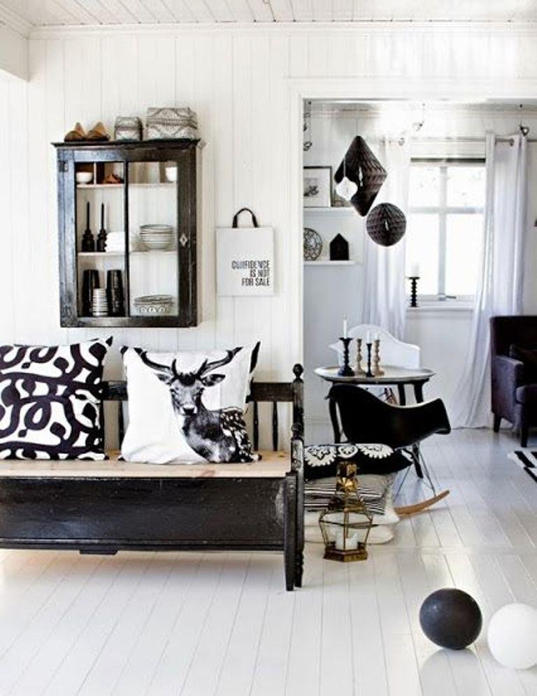 Rustic Scandinavian Living Room