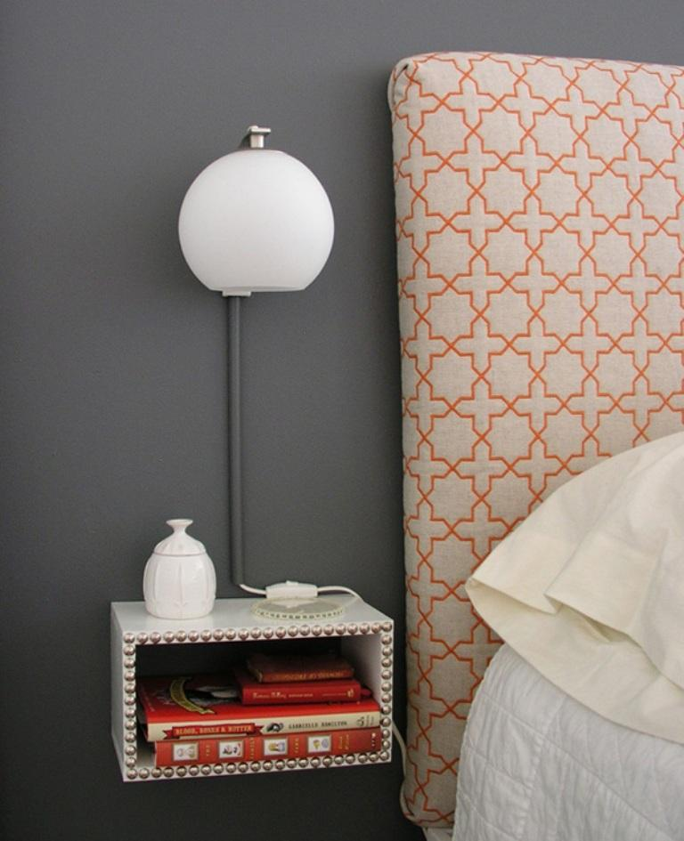 10 super chic floating bedside table designs for the - Floating chair for bedroom ...