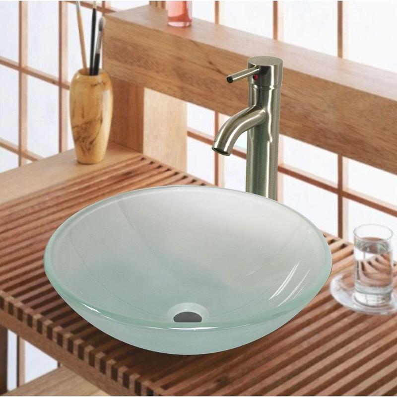 Tempered Glass Bathroom Sink