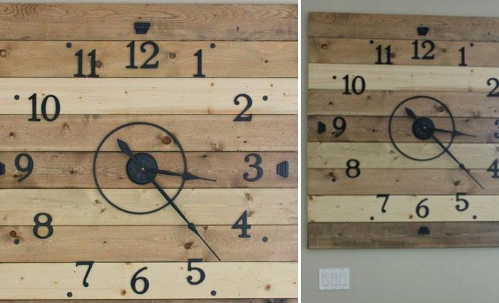 Rustic Wood Plank DIY ClockWhat Do You Say About Adding A Little Touch In Your Home By Creating Super Modern Clock