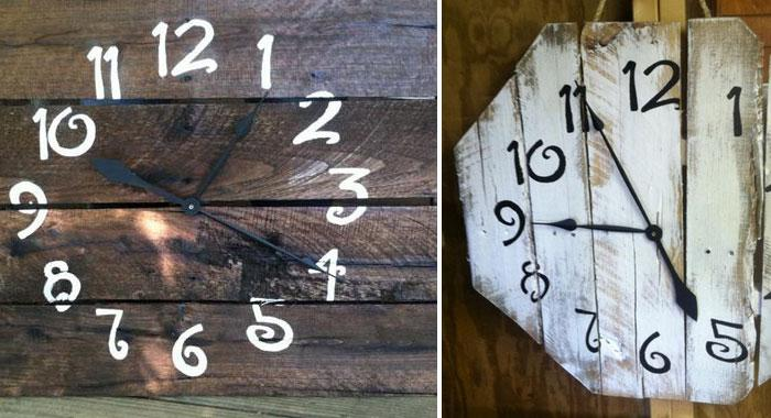 DIY Repurposed Pallet ClocksRe Purposed Clock Will Add Rustic And Modern Feel In Your Home Check Out The Useful Easy To Make Guide