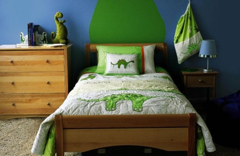 15 Cool Blue And Green Boy's Bedroom Design Ideas