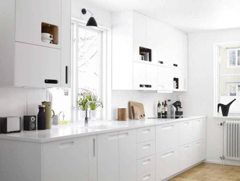 White Kitchen white kitchen Airy All White Kitchen