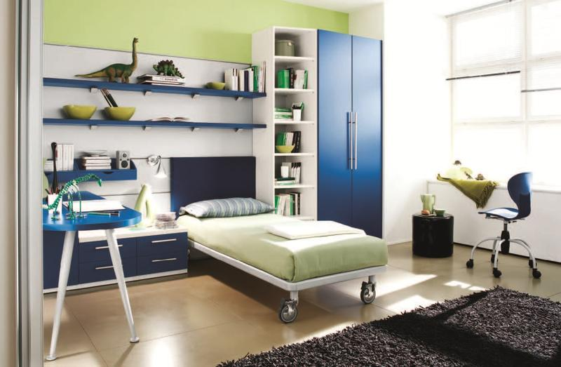 Appealing Blue And Green Boyu0027s Bedroom